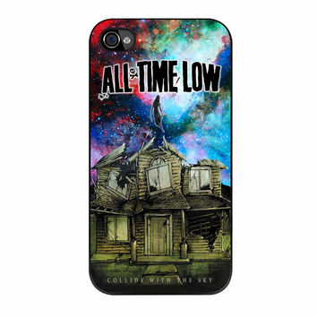 All Time Low Pierce The Veil Galaxy Design iPhone 4 Case