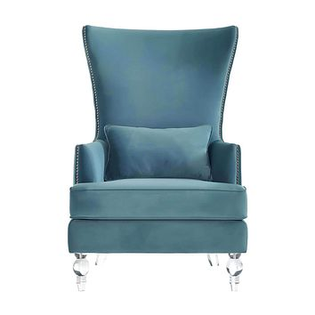 Bristol Velvet Chair with Lucite Legs