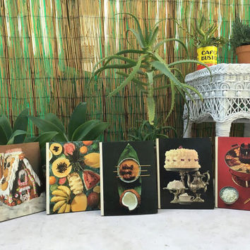 Vintage Foods of the World Cookbooks Vintage Time Life Books German Cooking Viennese Cooking Caribbean Island Cooking Chinese Cooking