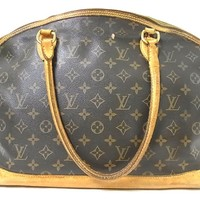 Auth Louis Vuitton Lockit Horizontal Monogram Brown Hand bag Purse