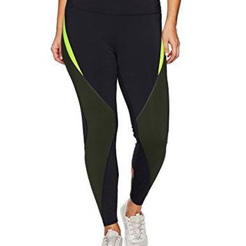 SHAPE activewear Womens Plus Size Shadow Color Block Legging