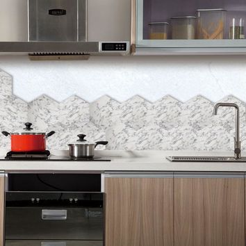 Modern Marble Self Adhesive Wallpaper for Bathroom Kitchen Cupboard Table Wall Contact Paper Waterproof Wall Stickers