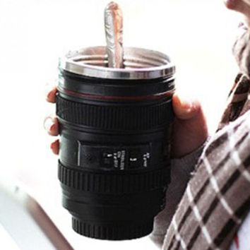 Winter Keep Warm Camera Lens Coffee Mug Christmas Gift