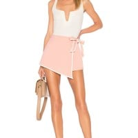 by the way. Samara Wrap Skort in Blush & White | REVOLVE