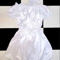 SWEET LORD O'MIGHTY! BABYGIRL SILK DRESS IN WHITE
