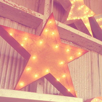 Vintage Marquee Lights - Ready to Ship - Star