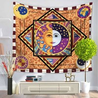 CAMMITEVER Sun Apolo Hippy Mandala Bohemian Tapestries, Indian Dorm Decor,  Wall Hanging Ethnic Decorative Psychedelic Tapestry