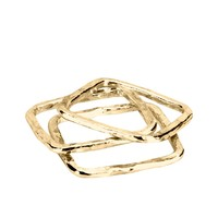 Adina by Adina Reyter Square Stackable Rings set of 3