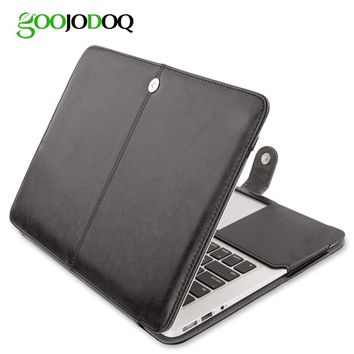 "PU Leather Case for Macbook Air 11 Air 13 Pro 13 Pro 15'' New Retina 12 13 15 Case Cover for Apple Macbook 14"" 13.3""15.4"" 15.6"""