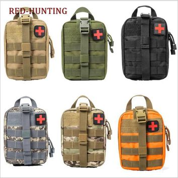 Outdoor Tactical Medical First Aid Kit Utility Pouch Emergency Bag For Vest Belt Treatment Waist Pack Multifunctional