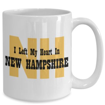 Heart In New Hampshire - 15oz Mug
