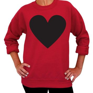 Valentine's Day, Sweater, Gift for her, Heart Sweatshirt, Adult Unisex, Crew Neck, Womens Clothing, Birthday Gift, Love, Engagement, Party