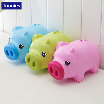 Fashion Home Decoration Cartoon Cute Little Pig Piggy Bank Creative Gift Money Pot for Children Multicolor Saving Money Box