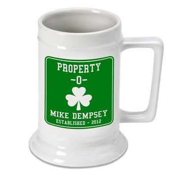 16oz. Ceramic Beer Stein - Property O