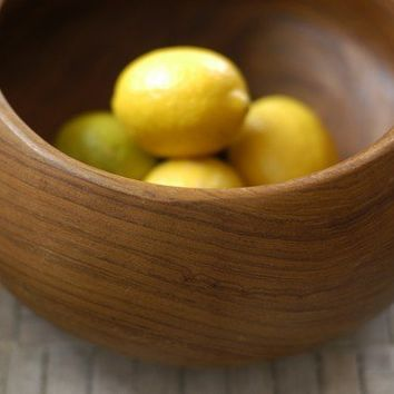 Large MidCentury Teak Bowl by bonnbonn on Etsy