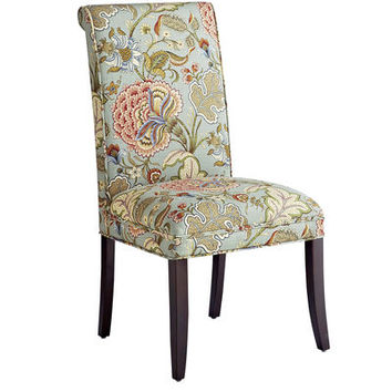 Angela Blue Floral Dining Chair