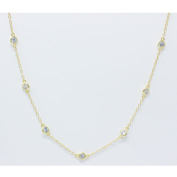 Loa CZ by Yard Necklace