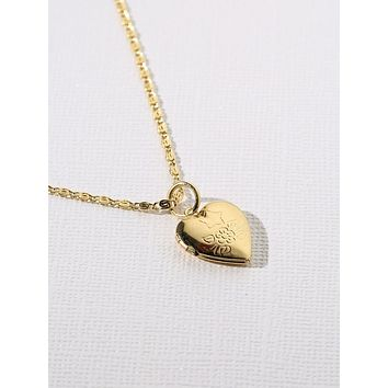 Vanessa Mooney x Gold Heart Locket Necklace