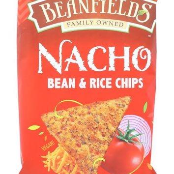 BEANFIELDS: Bean & Rice Chips Nacho, 6 oz