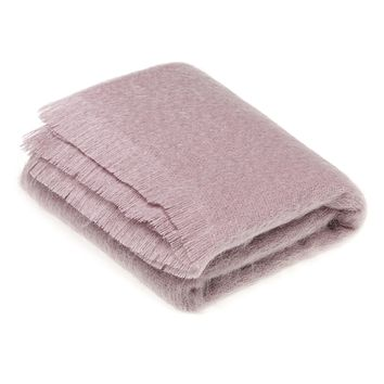 Ethan and Allen Mohair Throw Blanket in Dusky Pink