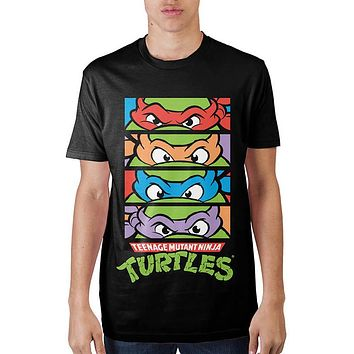 MPTS Teenage Mutant Ninja Turtles 4 Panel Black T-Shirt