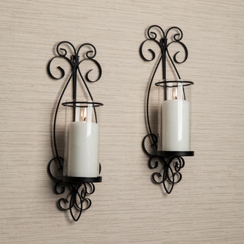 Danya B San Remo Metal Wall Sconce Set | Overstock.com Shopping - The Best Deals on Accent Pieces