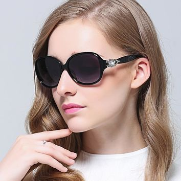 HD.space Polarized sunglasses women 2017 ladies big frames retro glasses gafas de sol polarizadas diamonds sunglasses women