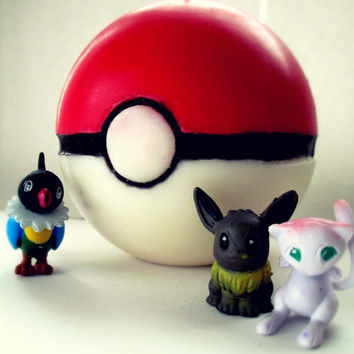 Pokeball/ Pokemon Candle- Handmade