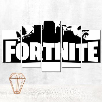 canvas poster fortnite canvas painting a modular decoration for home interior schilderen op nummer modular picture on the wall 5