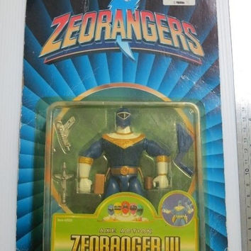 Bandai 1996 Power Rangers Zeo Ohranger .Action Collection Trading Figure