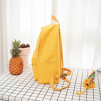 Fashion  Heart Yellow Backpack  Style Students Travel Bag Girls School Bag Laptop Backpack