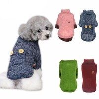 Dog Clothes - Woolen Turtleneck Sweater - Cat Sweater