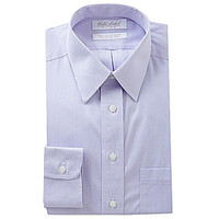 Gold Label Roundtree & Yorke Fitted Point-Collar Dress Shirt - Lavende