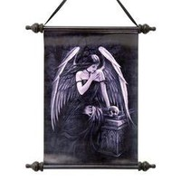 Lost Soul Dark Angel Canvas Wall Scroll Tapestry - CL75137 - Design Toscano