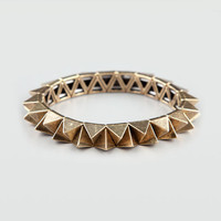 Full Tilt Pyramid Stretch Bracelet Gold One Size For Women 21092762101