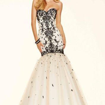 Mori Lee Beaded Fitted Dress 98051
