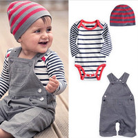 3 Piece Boys Jumpsuit Outifit. Onesuit Jumpsuit and Hat