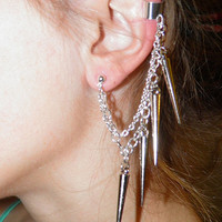 Chain Ear Cuff by julhardick on Etsy