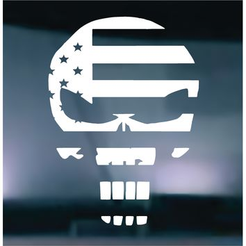 The Punisher American Flag Vinyl Graphic Decal