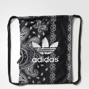 adidas Paisley Gym Sack - Black | adidas US
