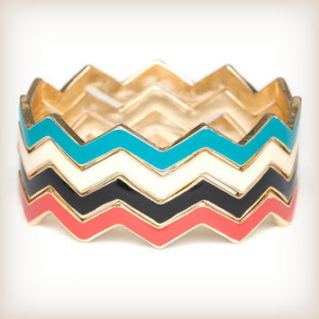 Chevron Bangle Stack