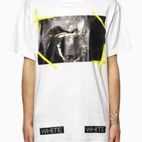 """""""Caravaggio"""" t-shirt from the S/S2015 Off-White c/o Virgil Abloh collection in white."""