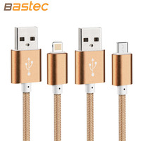 Colorful Super Strong Metal Micro USB Charging Charger Sync Data Cable Plug Cord for iPhone 6 6s Plus 5s iPadmini / Samsung / Sony / Xiaomi / HTC