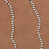Pearl Sparkle Beaded Long Layering Knot Necklace