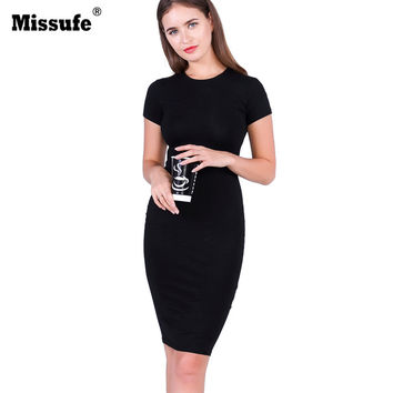 Vintage Knee Length Pencil Tunic 2017 Summer Style Vestidos Casual Slim Evening Party Gowns Sexy Bandage Bodycon Women's Dresses