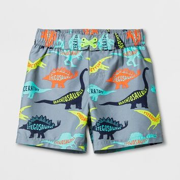 Toddler Boys' Dinosaur Swim Trunks - Cat & Jack™ Gray