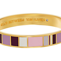 Kate Spade New York Idiom Bangles Read Between The Lines Bracelet - Hinged