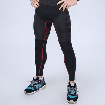 Professional Men's Bodybuilding Skin Tight Sport Training Fitness Crossfit gym Compression Tight Leggings 3 Colors