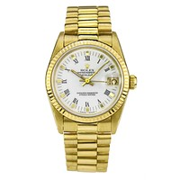 Rolex Lady President DateJust Watch in 18k Yellow Gold 68276