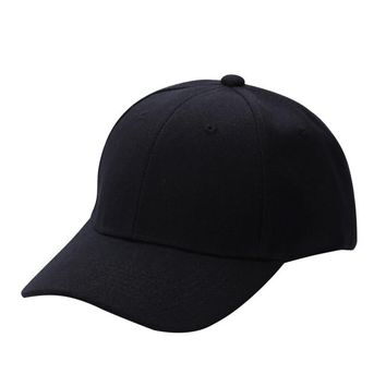 Women Men Unisex Running Caps Vintage Cap Snapback Outdoor Sports Hats Adjustable Solid Color Summer Sunshade Cap